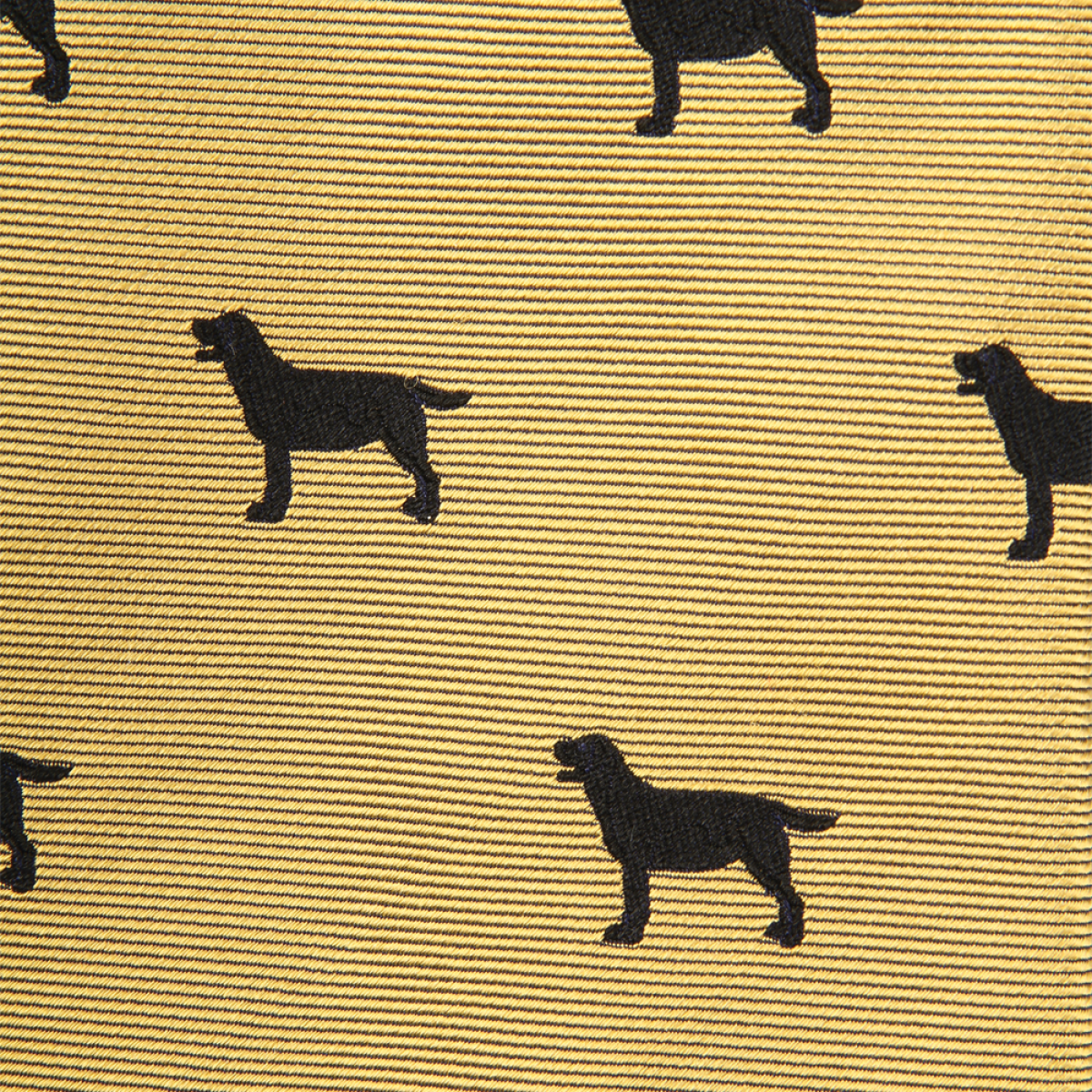 Woven Black Lab Gent - Yellow